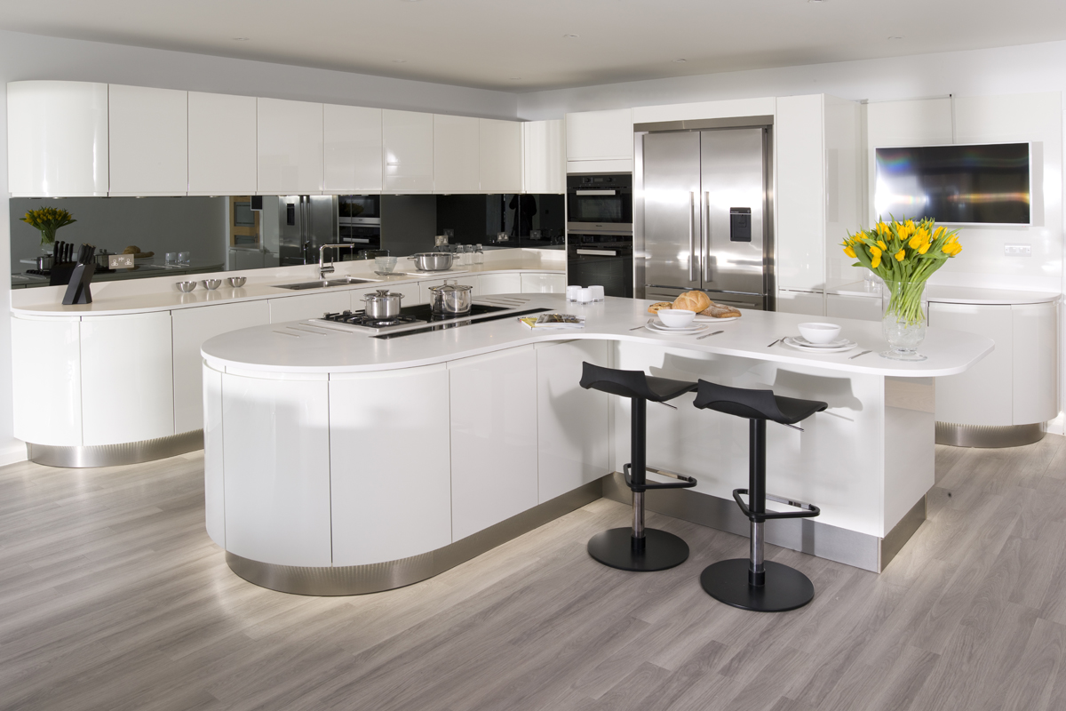 Urban Myth More Than A Kitchen Curved High Gloss White