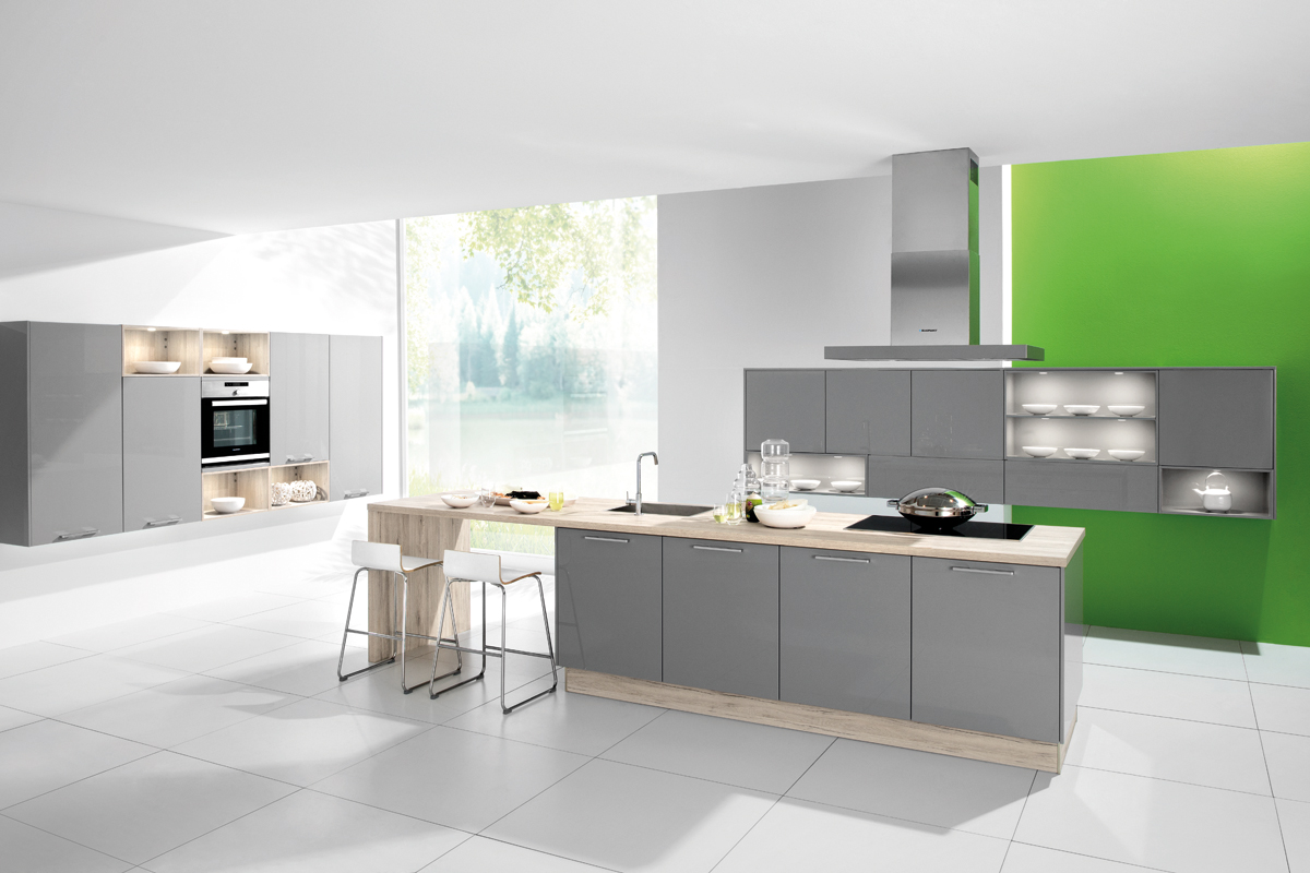 Cuisine Taupe Laqu View Full Size Gorgeous Kitchen
